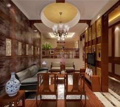 上海德林装饰:新中式别墅装修