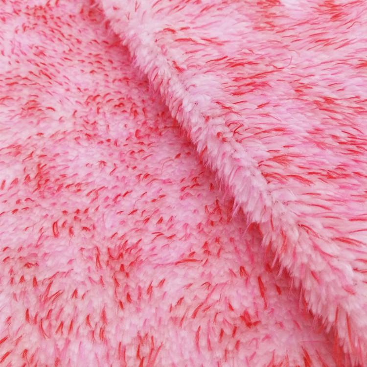 新品绒布 服装毛绒玩具宠物衣服窝室内拖鞋彩色长毛尖舒棉绒面料