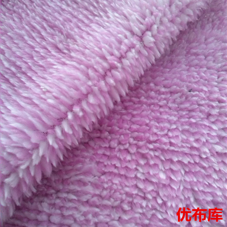 现货供应 服装鞋料家纺玩具宠物衣服阳离子双色舒棉绒针织面料