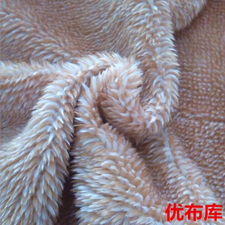 现货供应服装内衣毛绒拖鞋玩具宠物衣服阳离子珊瑚绒针织面料